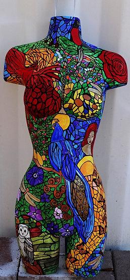 Her secret garden- mannequin art