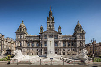 View of City Chambers and George Square, Glasgow