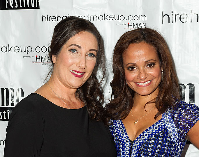Leslie LaPage and Judy Reyes
