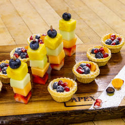 Mixed Berry Tarts and Mini Fruit Skewers