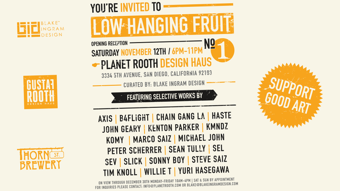 Low Hanging Fruit group art show