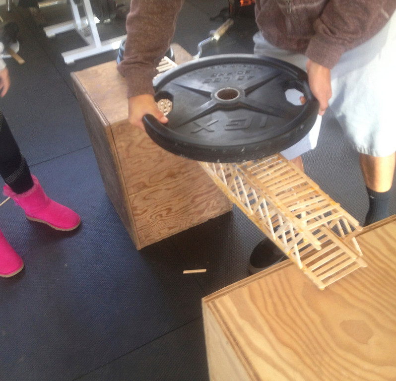 Bridge Builders' Competition * Testing Day in the weight room