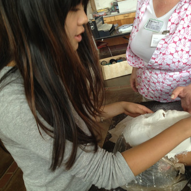 Learning to make plaster casts of the face and body in Advanced 3D