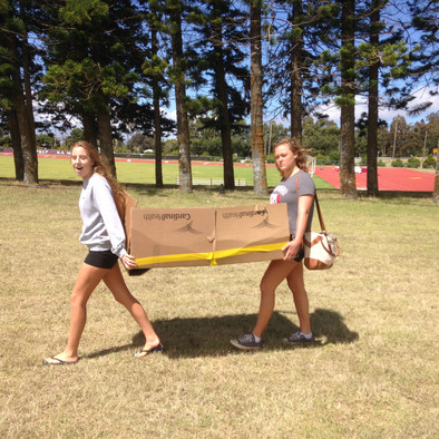Preparing for the Intro to 3D Art vs. Honors Physics Annual Cardboard Boat Race