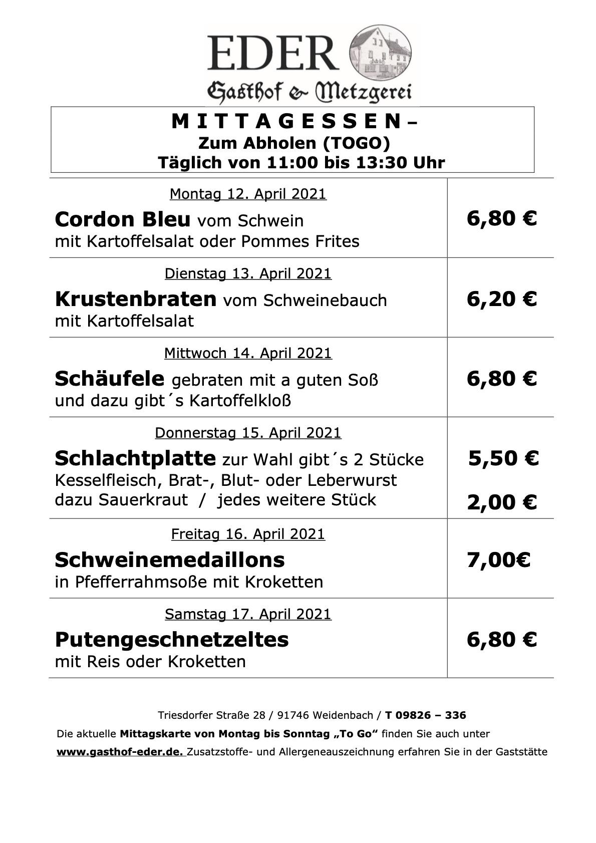 KW_15_Wochenangebot To Go_Gaststätte