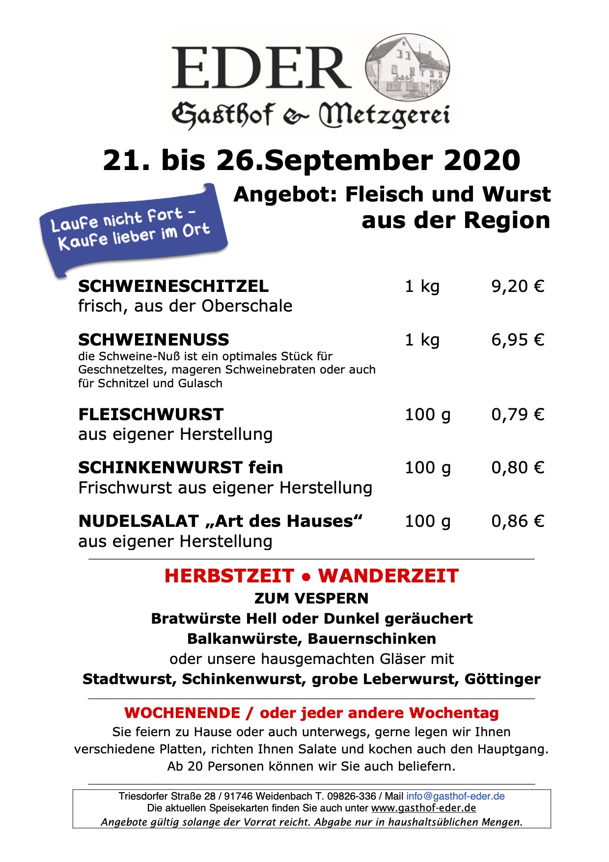 KW_39_2020_Wochenangebot Metzgerei