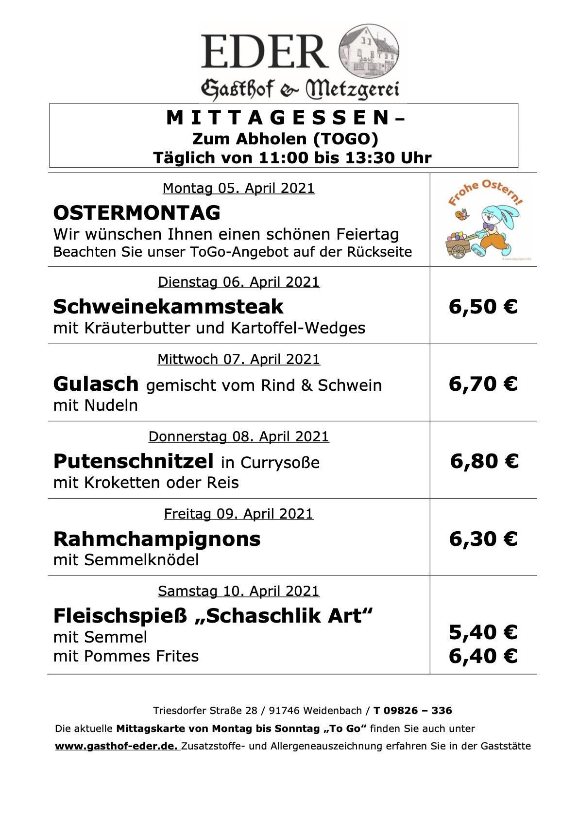 KW_14_Wochenangebot To Go_Gaststätte