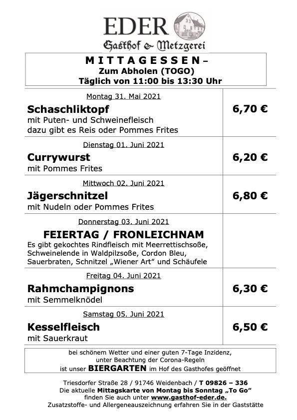 KW_22_Wochenangebot To Go_Gaststätte_