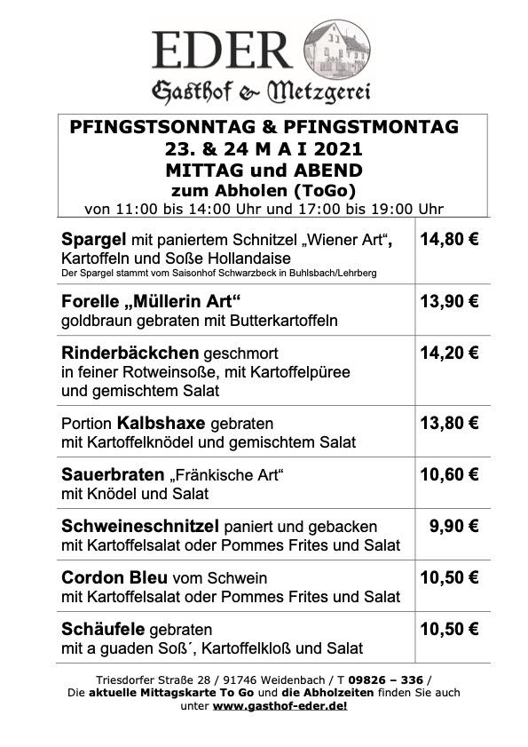Pfingsten_23._24. Mai 2021