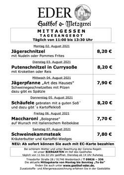 2021_KW_31_Tageskarte_Wochenangebot_Gaststätte_Biergarten