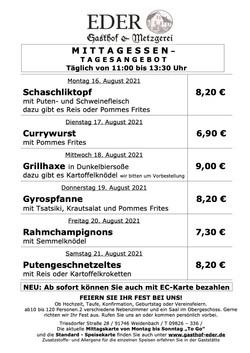 2021_KW_33_Tageskarte_Wochenangebot_Gaststätte_Biergarten