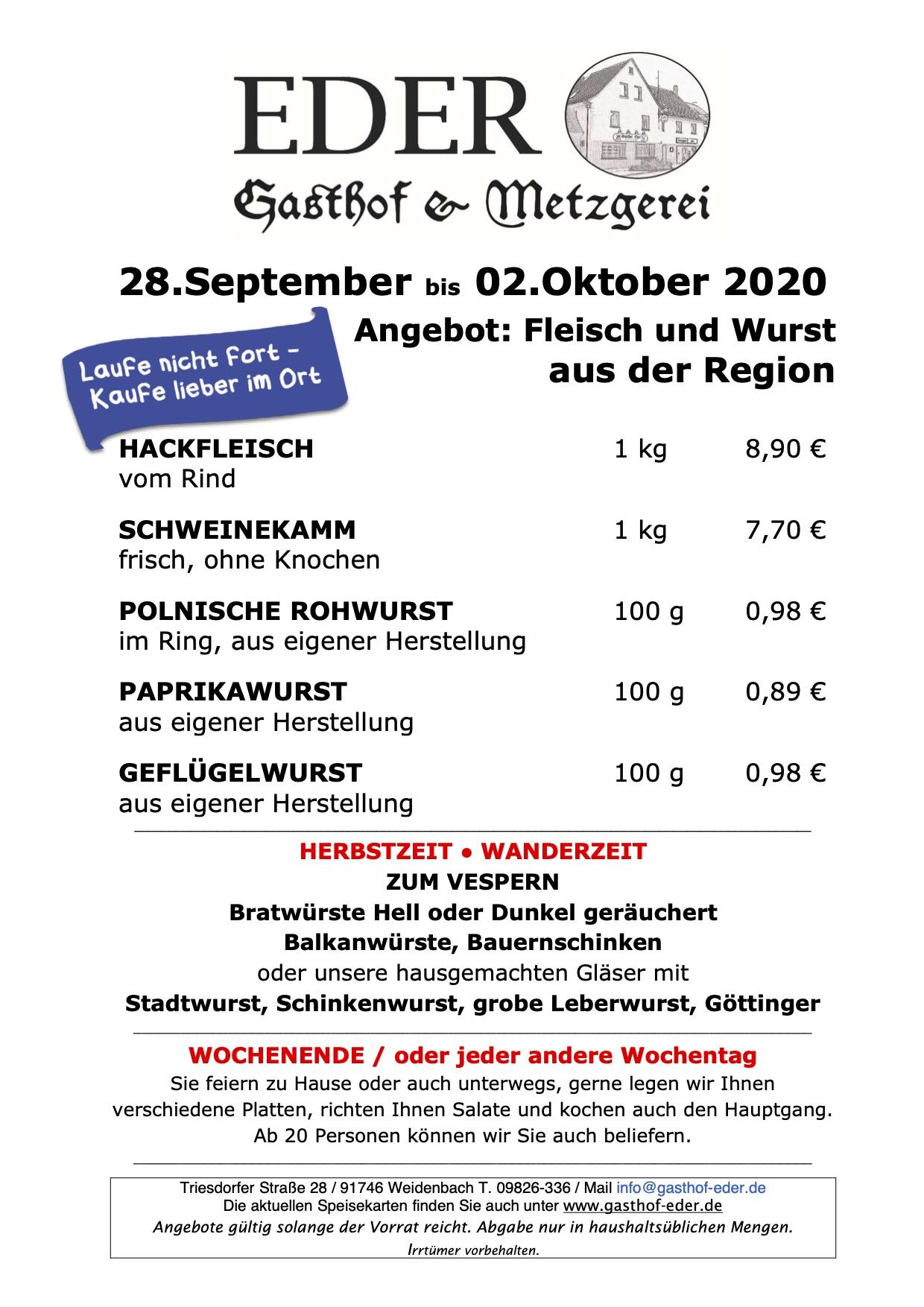 KW_40_2020_Wochenangebot Metzgerei