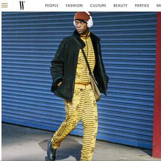 W Magazine FW 18 Mens Fashion Week