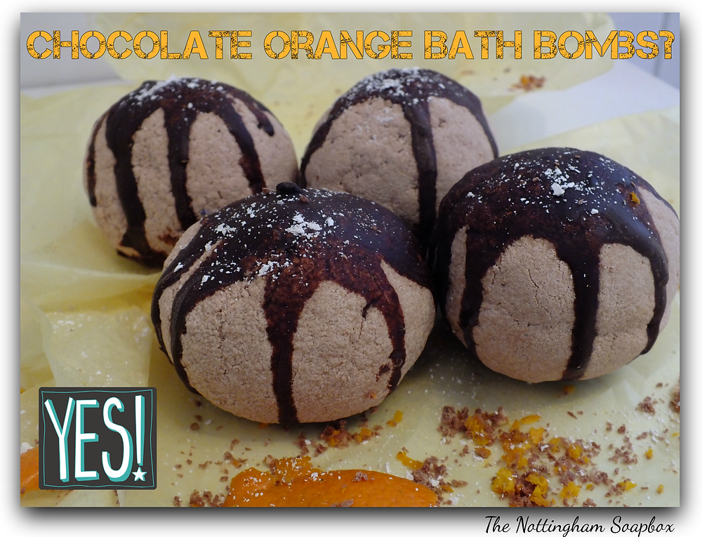 bath bomb, chocolate orange