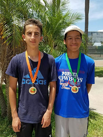 Daniel Garza 1st 18S and Pablo Amaro 2nd
