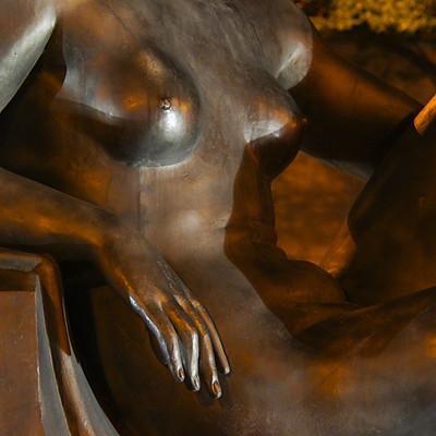 Musas, concreto e bronze
