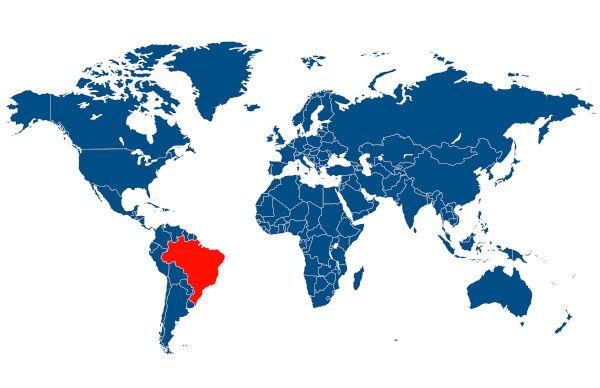 Brezilya'nın dünyadaki yeri