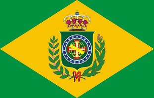 Brezilya İmparatorluğu'nunilk bayrağı 19 yıldızlı (1822-1870)
