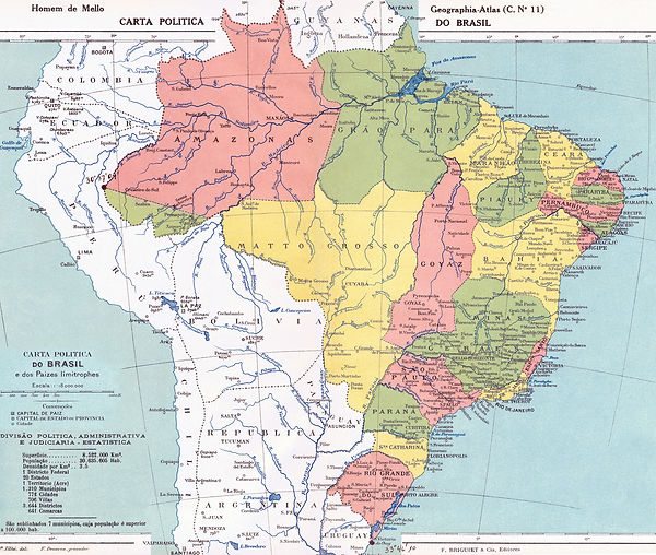Brezilya 1923 Haritası