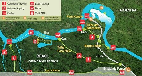 Iguazu Şelaleleri Tur Haritası