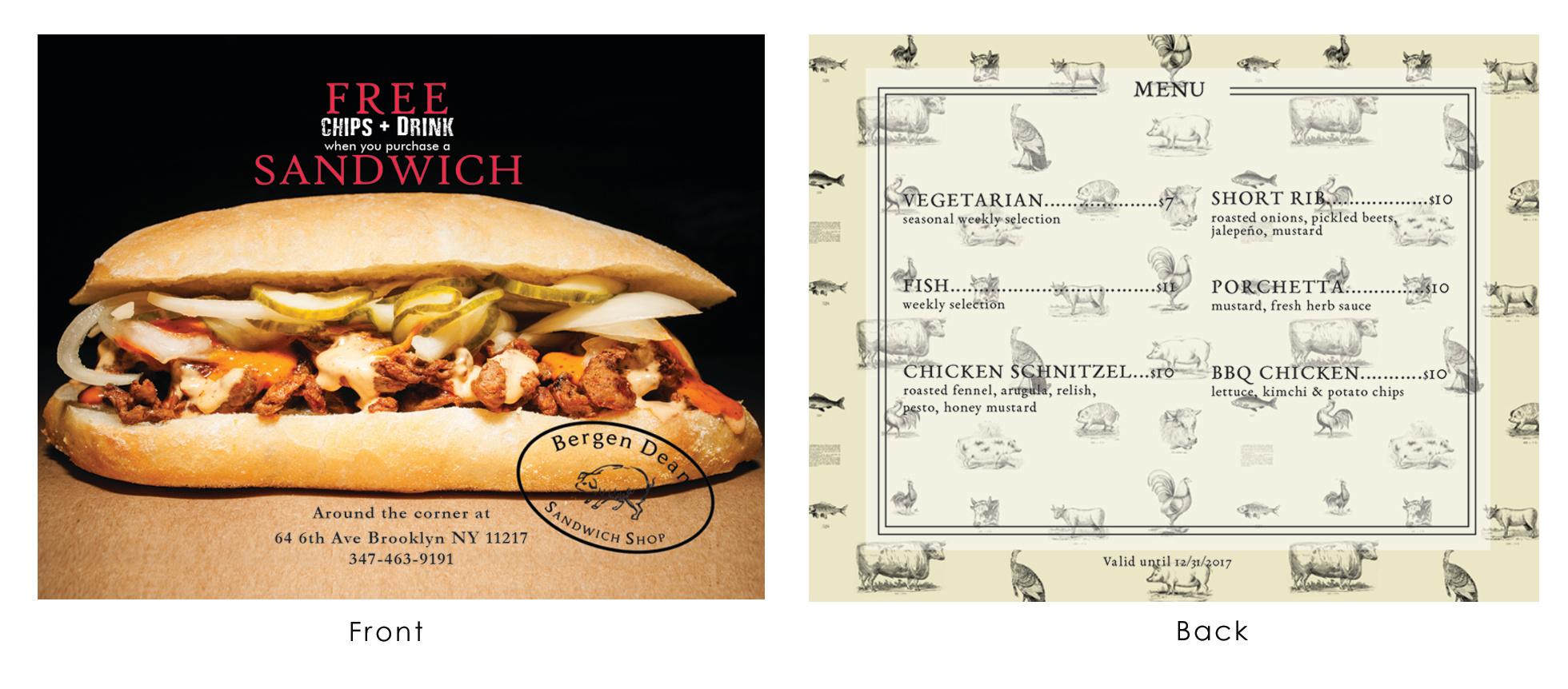 Sandwich flyer