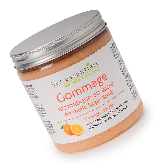 Gommage corps au sucre orange douce