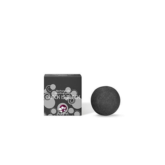 RECHARGE DENTIFRICE SOLIDE BLACK IS BLACK – BOITE CARTON – 18G
