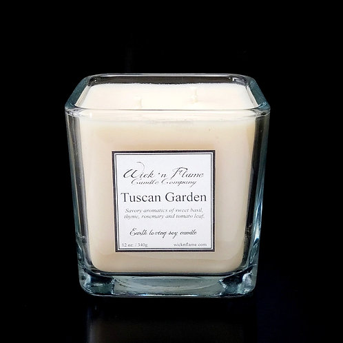 TUSCAN GARDEN:Savory aromatics of sweet basil, thyme, rosemary and tomato leaf