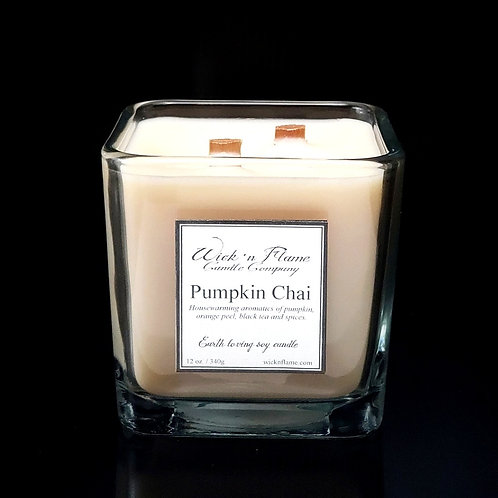 PUMPKIN CHAI: Housewarming aromatics of pumpkin, orange peel,black tea & spices.