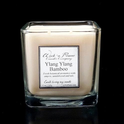 YLANG YLANG BAMBOO: Fresh botanical aromatics with amyris, sandalwood and talc.