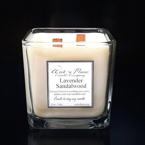 LAVENDER SANDALWOOD: Blend of soothing lavender, amber and soft sandalwood.