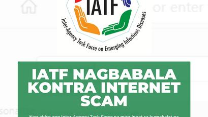 IATF Nagbabala Kontra Internet Scam