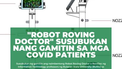 'Robot Roving Doctor' Susubukan ng Gamitin sa mga Covid Patient