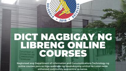 DICT Nagbigay ng Libreng Online Courses