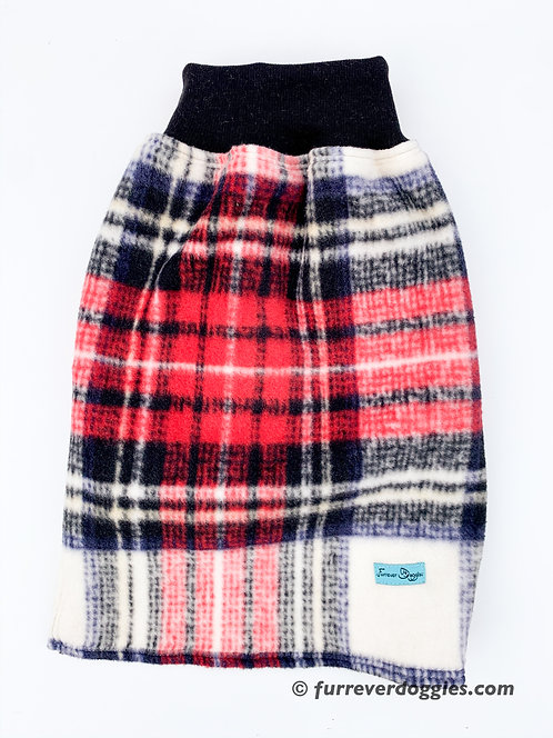 Black Red Plaid Fleece Sweater