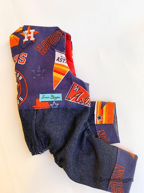Go Astros Doggie Overalls