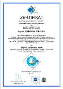 сертификат ион ЦЕПТЕР