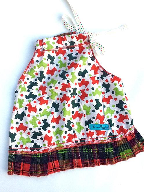 Xmas Plaid Dogs Dress