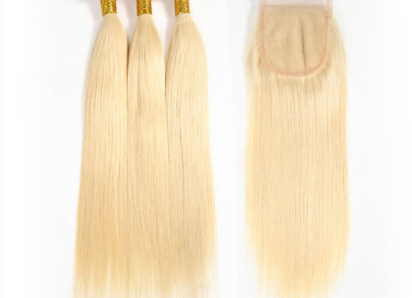 Brazilian Straight #613 Closure 3 Bundle Deal
