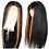 Thumbnail: Highlighted Straight Lace Front Wig