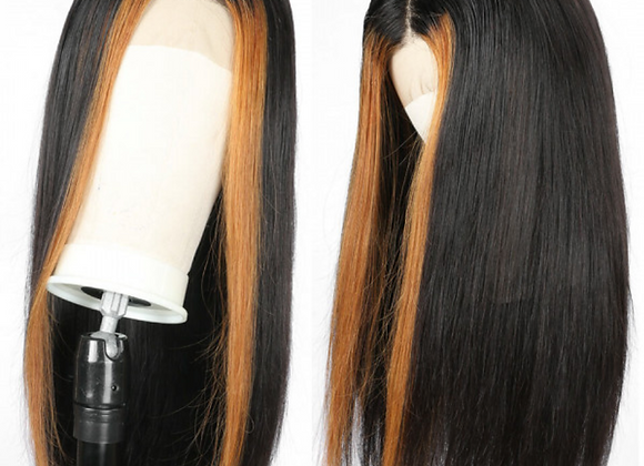 Highlighted Straight Lace Front Wig