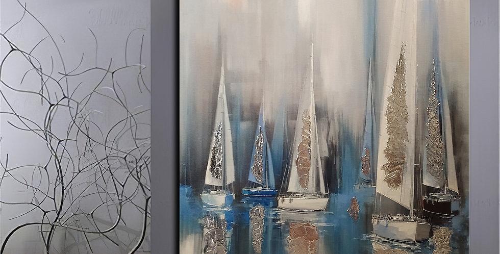 yelkenler kanvas tablo