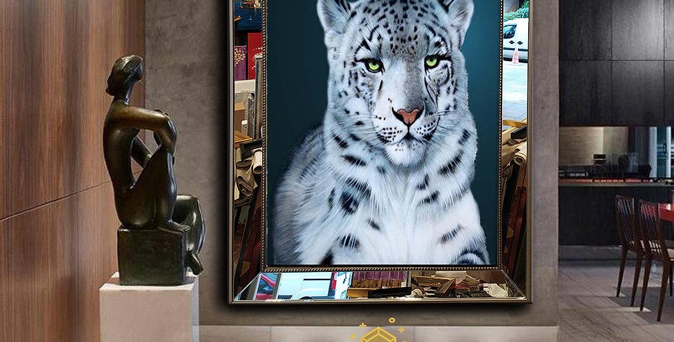 Beyaz  leopar