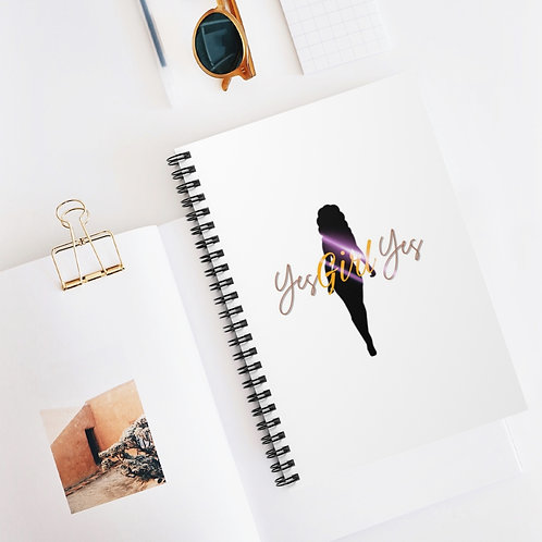 Yes Girl Yes! Spiral Notebook - Ruled Line