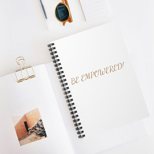 BE EMPOWERED! Spiral Notebook - Ruled Line