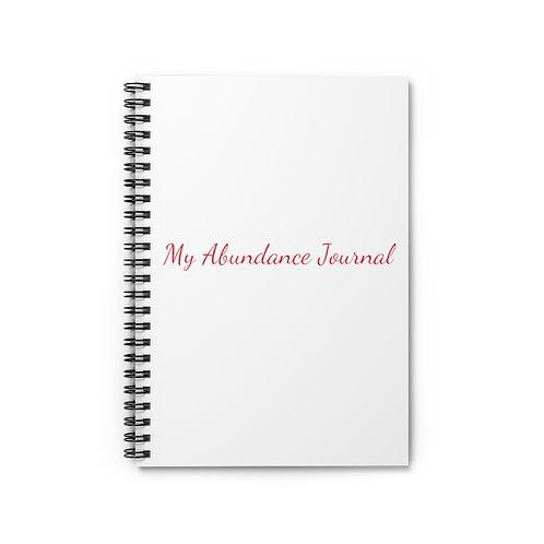 My Abundance Journal Spiral Notebook - Ruled Line