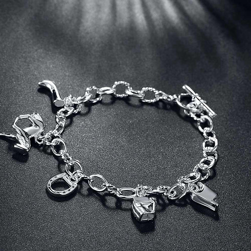 Gennevilliers 18K White Gold Plated Bracelet