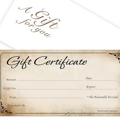 Gift Certificate - Silver - Empowerment Coach