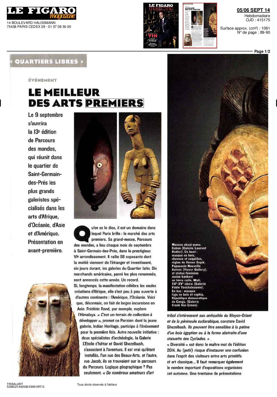 Le Figaro Magazine 05/06 Sept 2014