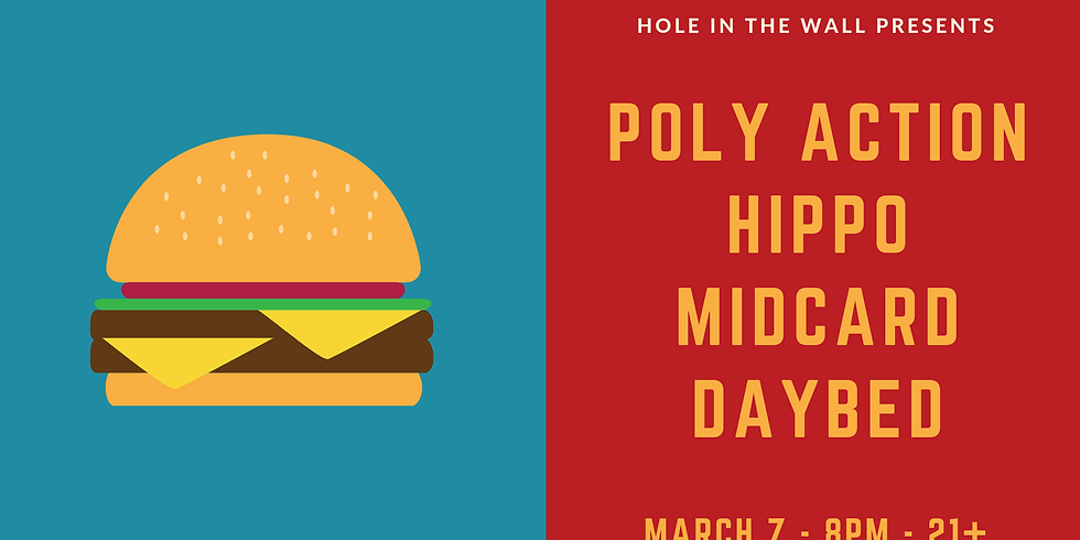 Hippo, Poly Action, Daybed, Midcard